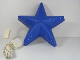 Ikea children's blue star light