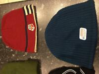 Selection of snow boarding hats/beenies