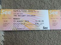 The Railway Children - 15 Aug 2016 - 1x Adult and 1x Child £25 Total