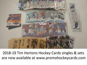 SALE! 2018-19 Upper Deck Tim Hortons Hockey Card Singles & Sets Available Base TLT CC GE SS GDA 15-16 16-17  17-18 FF CC
