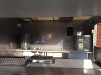 Catering trailer with electric & gas cartificate