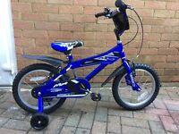Boys 16 inch Blue Ammaco Bike