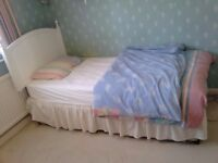 Single bed with storage, mattress, duvet and all covers