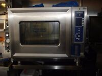 Hobart 6-Grid Electric Combination Steam Convection 3-Phase Oven + Stand