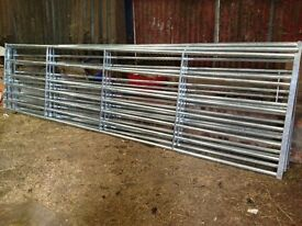 **Brand New** Galvanised Farm / Field Galvanised Gates by Bateman (Century Gates) 15ft wide
