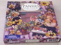 Victorian Pansies Rubber Stamp Kit