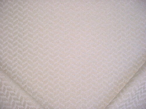 17-3/8Y COLEFAX FOWLER WHITE CHAMPAGNE CHEVRON HERRINGBONE UPHOLSTERY FABRIC
