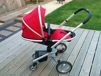 Silver cross surf travel system with isofix and car seats