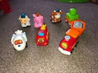 Toot toot animals and vehicles.