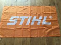 Stihl chainsaw workshop flag banner