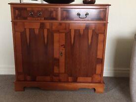 Mahogany veneer hand crafted furniture. Like new.