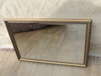 Mirror in golden frame (Delivery)