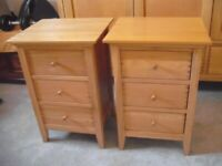 PROVISIONALLY SOLD JOHN LEWIS WILLIS AND GAMBIER OAK BEDSIDE CABINETS