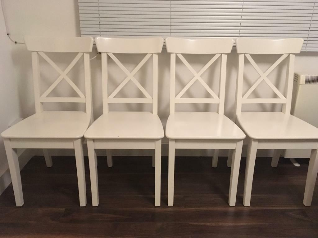 Amazing photo of Dining Chairs x4in Canterbury KentGumtree White wood dining chairs  with #866646 color and 1024x768 pixels