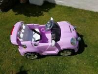 Battery powered girls car