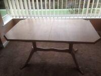 Limed oak effect dining table length 150cm to 195cm width 90cm/ height 75cm