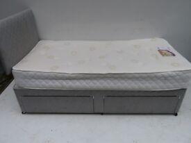 Silver Single Divan Bed