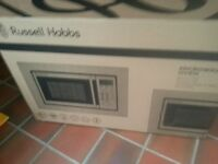 russel hobs built in microwave oven brand new