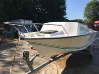 18ft Fast Fishing Cuddy Boat with 2008 90HP Yamaha 2 Stroke, new controls & steering & good trailer