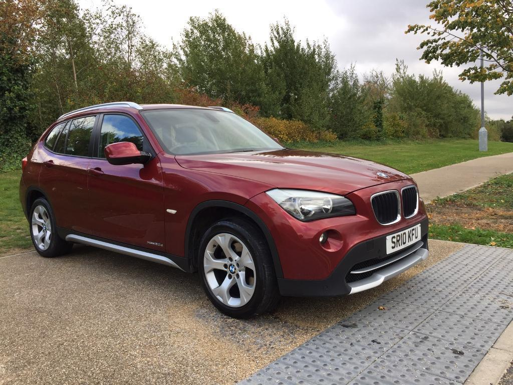 2010 BMW X1 2.0 20D XDRIVE 4X4 5DR RED NEW MOT IMMACULATE 53K MILES WARRANTY PART EXCHANGE WELCOME