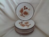 """8----DENBY COTSWOLD BROWN 6 3/4""""SIDE PLATES"""