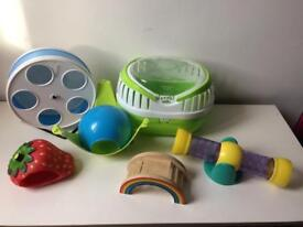 Hamster Accessories : wodent wheel, carry case / cage, toys etc