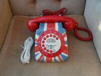 NEXT RETRO UNION JACK HOUSE PHONE TELEPHONE
