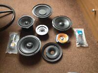 job lot of bass drivers and tweeters