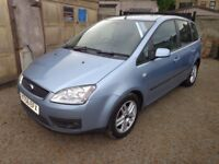 2006 Ford Focus C-Max Zetec 1.6 Petrol 5 Door Blue Low Miles Long MOT Warranty Available