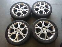 "Genuine oem Honda accord 17"" 5x114.3 alloy wheels + two 2 tyres nissan toyota"