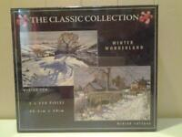 """""""WINTER WONDERLAND"""" .. NEW+SEALED .. TWO X 550 PIECES JIGSAW PUZZLES"""