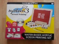 Brand New: System 3 - Screen Printing Set - Daler Rowney