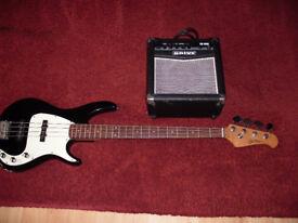 Blueridge Bass guitar and Amp