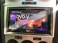 Pioneer double din DVD CD player Bluetooth/USB/aux/parrot hands free