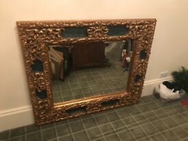 ** LARGE GOLD EMBELLISHED MIRROR EXCELLENT PIECE **