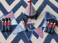 Laura Ashley Bunting and Door Stop - Decorative Wooden Solders - Dragon Cushion Cover - Boat Hook