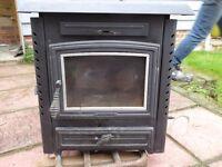 Aarrow Multifuel stove with back boiler 40000btu / 16kw