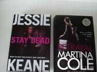 "MARTINA COLE ""BETRAYAL""; JESSIE KEANE ""STAY DEAD"" £2 EACH - AS NEW!"