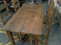 Mexican pine table 4 chairs