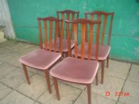 SET OF 4 G PLAN CHAIRS