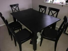 Dinning Table & 6 x chairs
