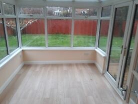 Conservatory for sale. Very good condition, 3.4 m long 2.7 m wide. Brown exterior / white interior.