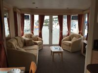 Luxury Caravan Holiday Home For Sale- Central Heating, French Doors. Borth Nr Aberystwyth WALES