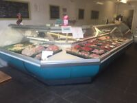 Meat displays counters
