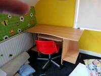 Computer table and chair