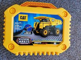 Cat truck. Machine maker. Construction toy