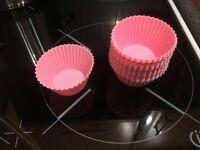 Pink Silicone Cupcake Set