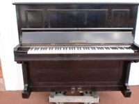 BECHSTEIN BLACK OVER STRUNG UNDER DAMPER £750 CAN DELIVER TUNED