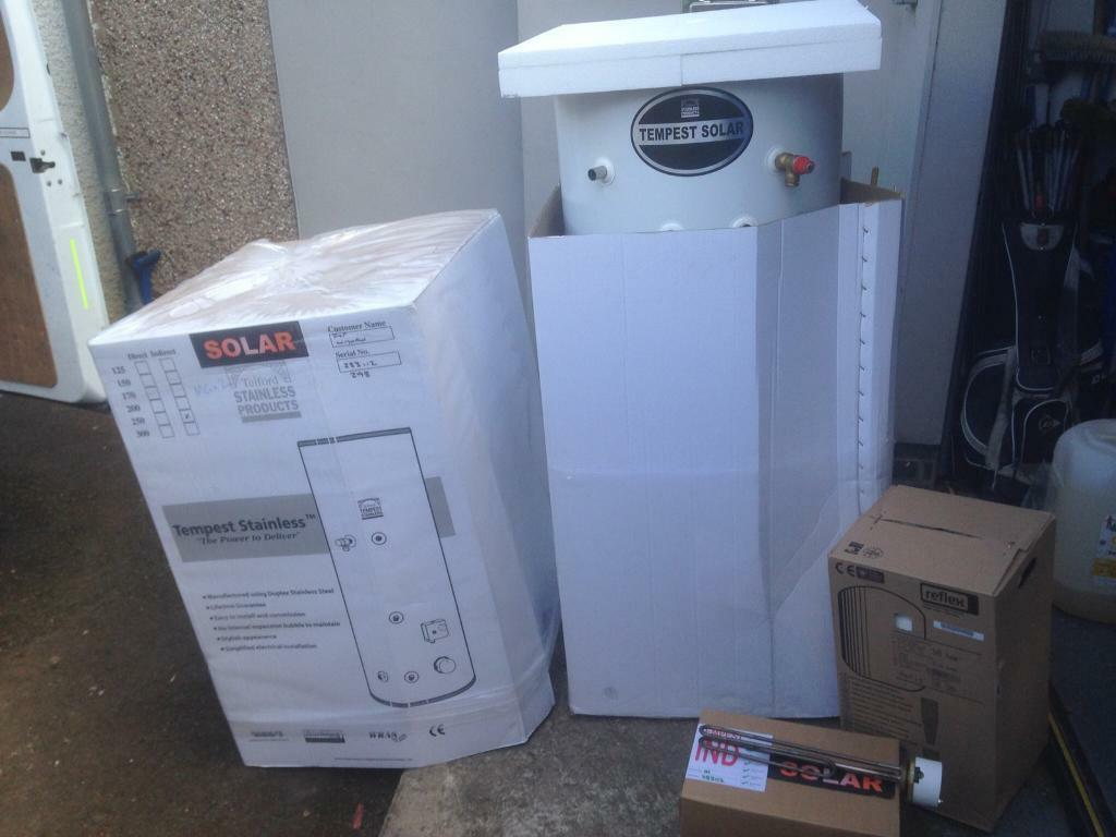Unvented hot water cylinder , new 250 litre, twin coil | in ...