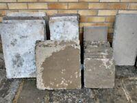 Assortment of paving slabs